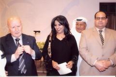 المستشار الإعلامي المصري جابر حيدر والشاعر حسن كمال