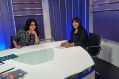 مع الإعلامية سهير العصفور، 2012